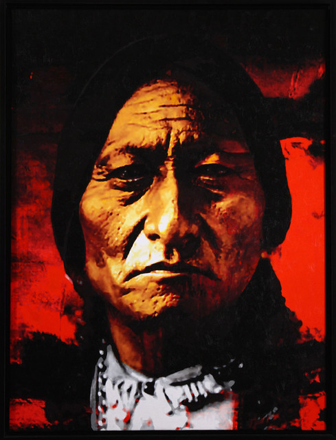 24 top art oil painting chief sitting bull native american indian sioux oil painting on canvas. Black Bedroom Furniture Sets. Home Design Ideas