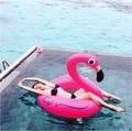 150 СМ 60 Дюймов Гигантские Розовые Надувные Фламинго Бассейн Игрушка Float надувные Милый Розовый Ездить-На Бассейн воды кольцо для Водного Развлечения партия