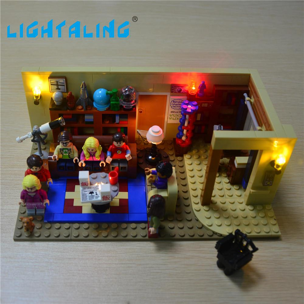 Lightaling LED Light Kit for 21302 Big Bang Theory Compatible with Famous Brand Blocks Bricks Toys USB Charge lightaling led light set compatible with brand camping van 10220 building model creator decorate kit blocks toys