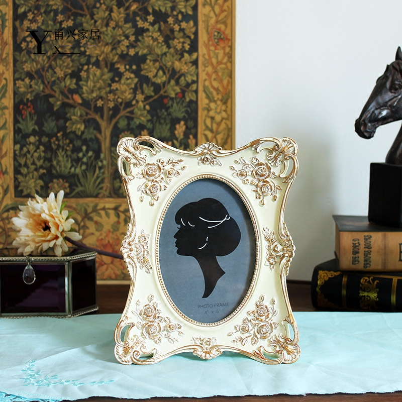 Carved European-style resin photo frame decoration creative stage American style pastoral home decor
