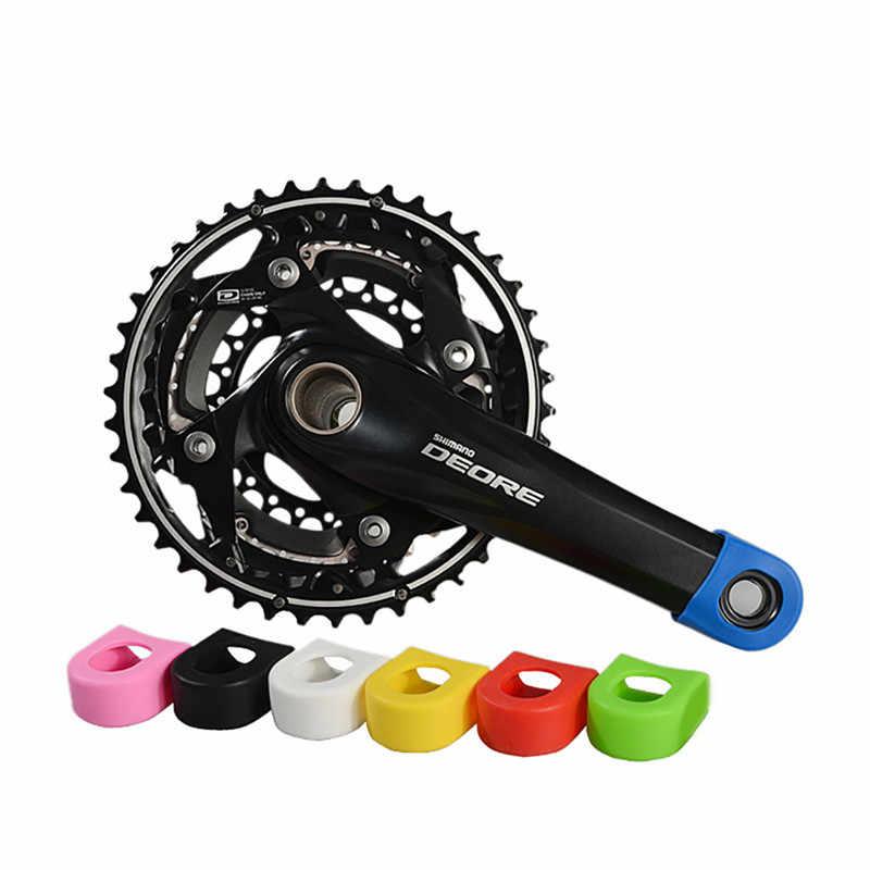 1Pair Silicon Bicycle Crank Arm Boots Protectors Bike Crank Set Parts tools ES