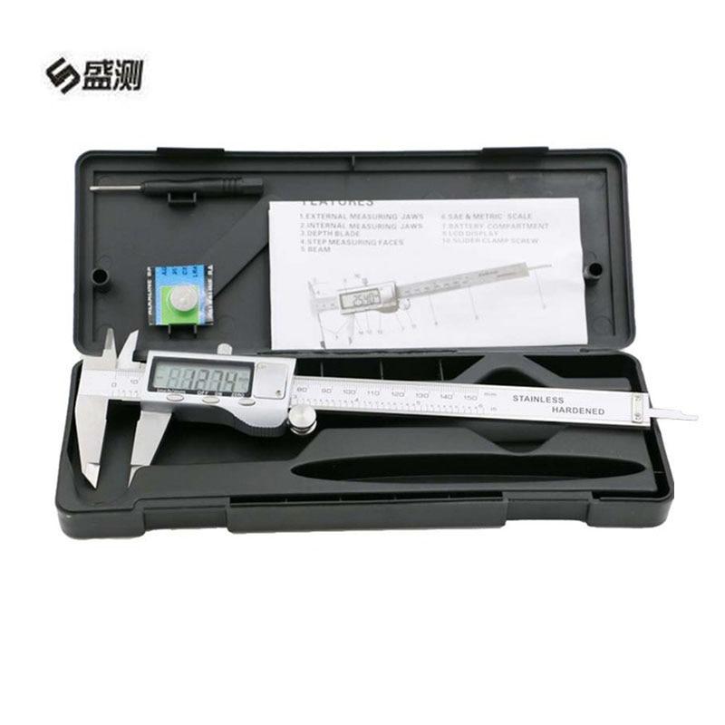 Ferramentas de Medição de Metal Ferramentas de Medição Polegada Metal Digital Caliper Goniômetros Pinças Industriais Micrômetro Guage1004 6 0-150mm