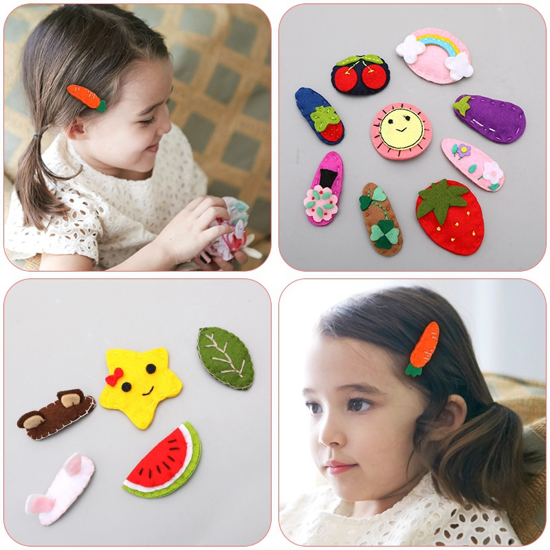 2019 Springboard Clip Card Hair Accessories for Women Korean Children 39 s Cute Cartoon Handmade Small Animal Hair Clips for Girls in Hair Accessories from Mother amp Kids