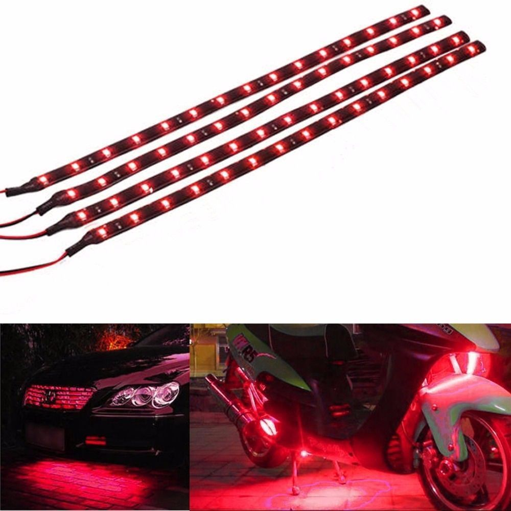 Online shop cyan soil bay 4pcs autos interior red waterproof online shop cyan soil bay 4pcs autos interior red waterproof flexible lighting 30cm 15 led 12v 3528 smd car truck motor led strip light aliexpress mobile aloadofball Gallery