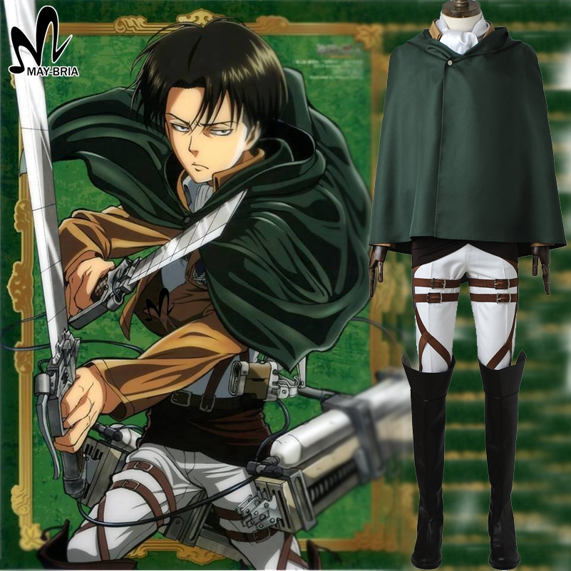 Attack on Titan Rivaille Cosplay Costume Halloween costumes for men Hot Anime Rival Ackerman cosplay Shingeki no Kyojin costume стоимость