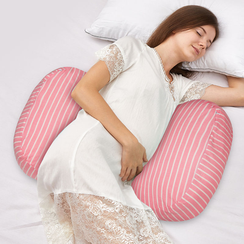Pregnancy Pillow Waist Back Support Striped Pillow For