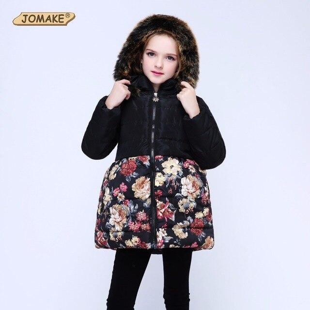для девочек теплое пальто детские парки зимние куртки для девочек