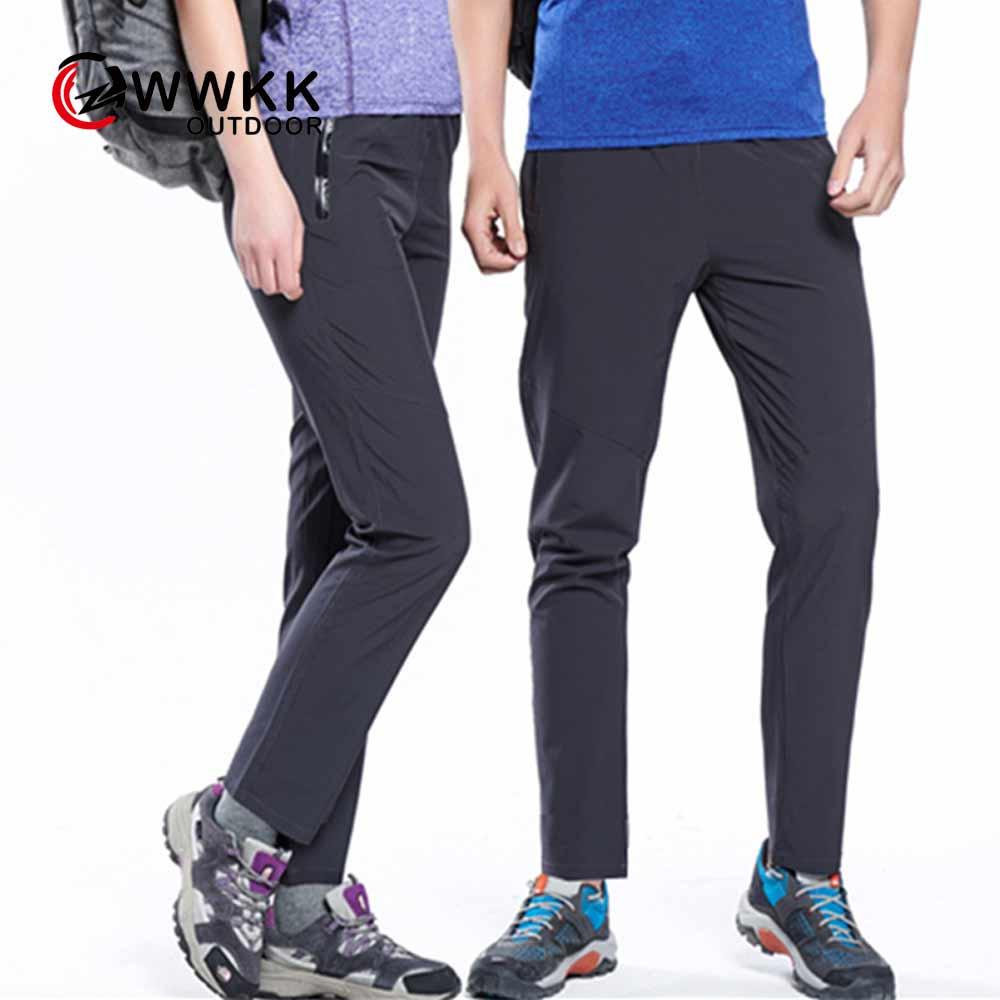 WWKK мужские и женские спортивные быстросохнущие повседневные Стрейчевые брюки для пар на открытом воздухе женские дышащие солнцезащитные б...