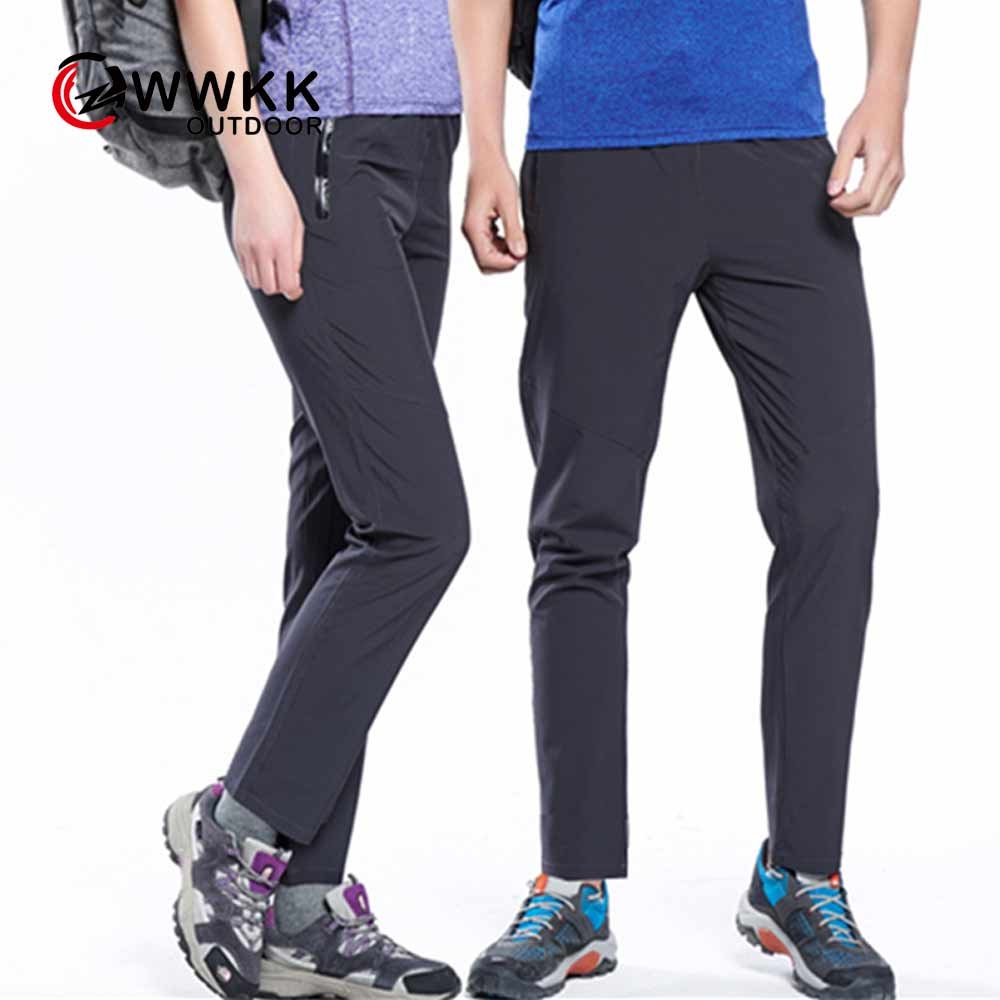 WWKK Men&Wom Outdoor Couple Sports Quick-Drying Waterproof Casual Stretch Pant Women's Breathable Sunscreen Camping Hiking Pants