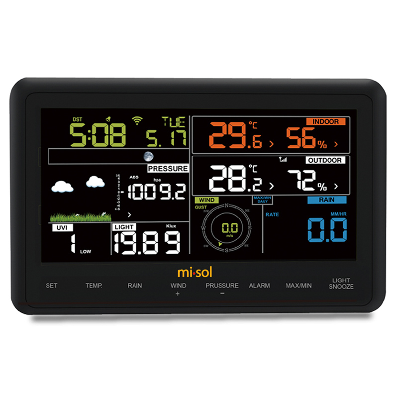 wireless outdoor inductor weather station connect to wifi. Black Bedroom Furniture Sets. Home Design Ideas