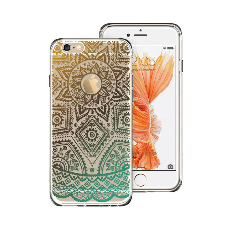 New phone for iPhone 6 case fashion Totem Henna Protective cover Soft TPU Hard Back case for iPhone SE 5s 6s case Cover