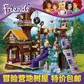 Друг Приключенческие Лагеря Tree House Building Кирпича Совместимость Legoes 41122 Девушки Игрушки Подарков