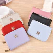 Hengsheng brand PU Leather Wallet Female Short Purse Fashion multi-function Tassel Women Wallets for best gift