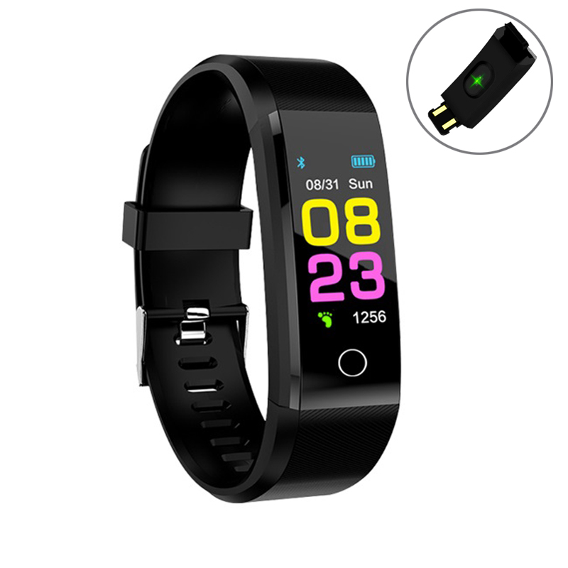 Men's Watches Trustful 115plus Smartwatch Waterproof Sports Pedometer Heart Rate Monitor Bluetooth Smart Band For Dropshipping