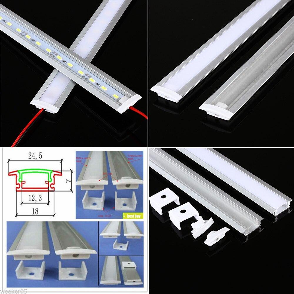 5-10pcs/lot 1M LED Strip Light Aluminum Profile For SMD5050/5630 Led Strip Width 12mm Aluminum Channel For Bar Kitchen Cabinet