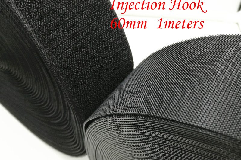 1PCS/LOT  YT661B Wide 60 mm Magic Tape  Injection Hook / Plastic Hook   Nylon Fastening  1 Meters   Without Glue  Free Shipping