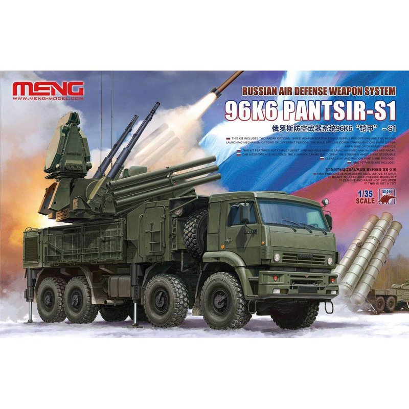 Meng Model SS 016 1 35 Russian Air Defense Weapon System 96K6 Pantsir S1 Scale Model