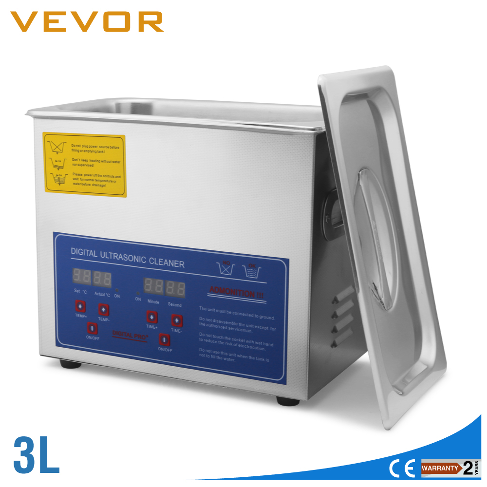 VEVOR Professional Digital 3L Ultrasonic Jewelry Cleaner with CE  Free sShipping Commercial VEVOR Professional Digital 3L Ultrasonic Jewelry Cleaner with CE  Free sShipping Commercial