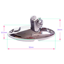 JEAZEA Stainless Steel 360 Degree Swivel Quick Release Hinge Mount With Pin Bolt Hardware Accessory For Marine Boat Yacht Hatch