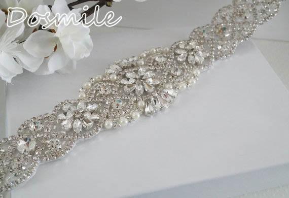 2016 Free Shipping Rhinestone Belt For Wedding Beaded Bridal Belt Sash