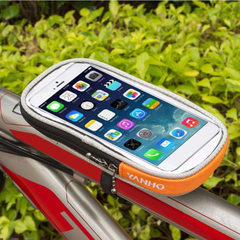 New <font><b>YANHO</b></font> Outdoor Waterproof Removable Bicycle Handlebar <font><b>Bag</b></font> Bicycle Pannier Pouch Front Top Tube <font><b>Bike</b></font> Frame <font><b>Bag</b></font> for Cellphone image