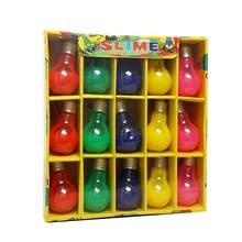 15Pcs Funny Light Bulb Shape Bottle Soft Slime Stress Relief Children Adult Toy colorful Magic for kids(China)