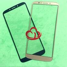 10 шт./лот сменный ЖК передний сенсорный экран стеклянный внешний объектив для Motorola E5 Plus Moto E Plus (5 го поколения) xt93