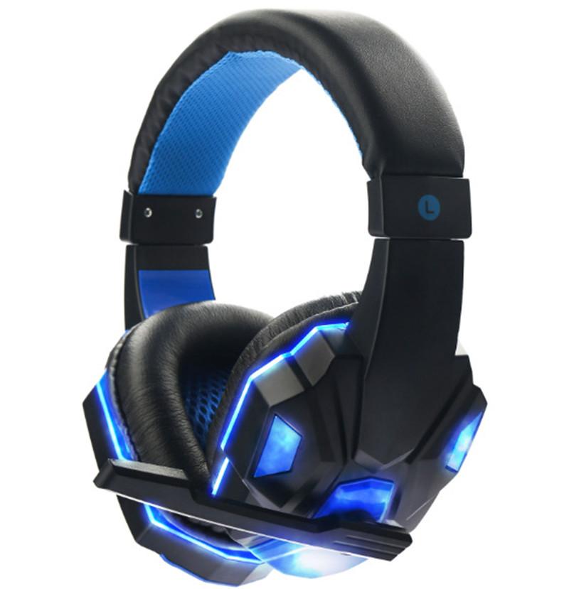 2017 Brand New Soyto 3.5mm Game Professional Gaming Headphone Headset Earphone With Mic LED Light For PC Laptop Gamer g1100 3 5mm pro gaming headset headphone for ps4 laptop crack pattern led led blue black red white