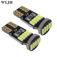 WLJH 2x Canbus T10 LED 4014 SMD Light Bulb W5W Car Styling 12v Auto Interior Lighting Automobiles Running Licence Parking Lamp