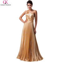FreeShipping 2014 New Fashion Women S One Shoulder Satin Formal Evening Gown Dress Designer Long Prom