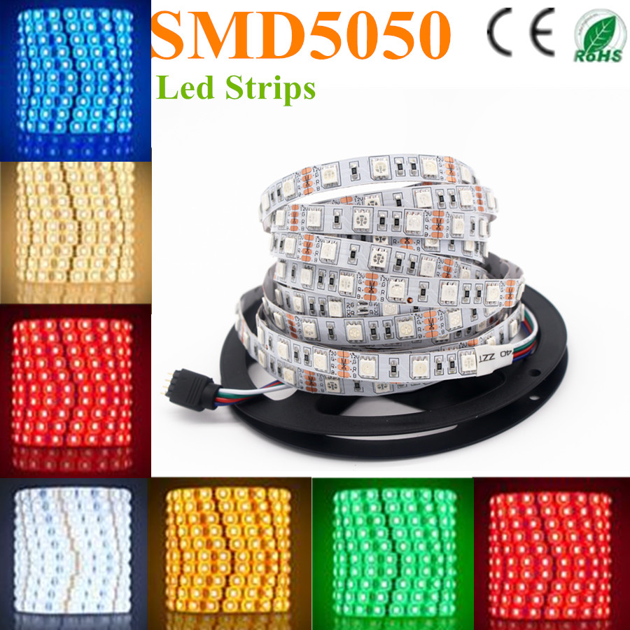LED strip 5050 SMD 12V flexible light 60LED/m 5m 300LED Non ...