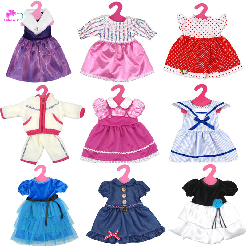 Variety of multi – color leisure suits Clothes for 45cm American girl and Zapf baby born doll accessories