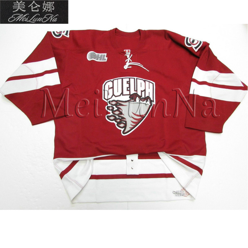 MeiLunNa Custom OHL Guelph Storm Jerseys 8 Drew Doughty 32 Dustin Brown 44  Todd Bertuzzi 92 Jeff ONeill Sewn On Any Name NO. 0c9df880c
