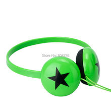 Rockpapa Boys Girls Kids Childrens Teens Star Stereo Small Headphones Adjustable Headset for Xiaomi iPhone iPod LeapPad / Green