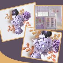 Cartulina hecha a mano Rosa DIY flores de papel hojas Set para la boda y el evento Backdrops decoraciones cuarto de niños decoración de pared Video tutorial