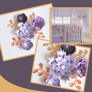 Image 1 - Handgemachte Karton Rose DIY Papier Blumen Blätter Set Für Hochzeit & Event Kulissen Dekorationen Kindergarten Wand Deco Video Tutorials