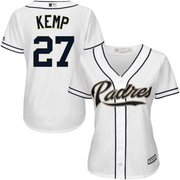 ... mlb jersey womens san diego padres matt kemp white home cool base  player jersey