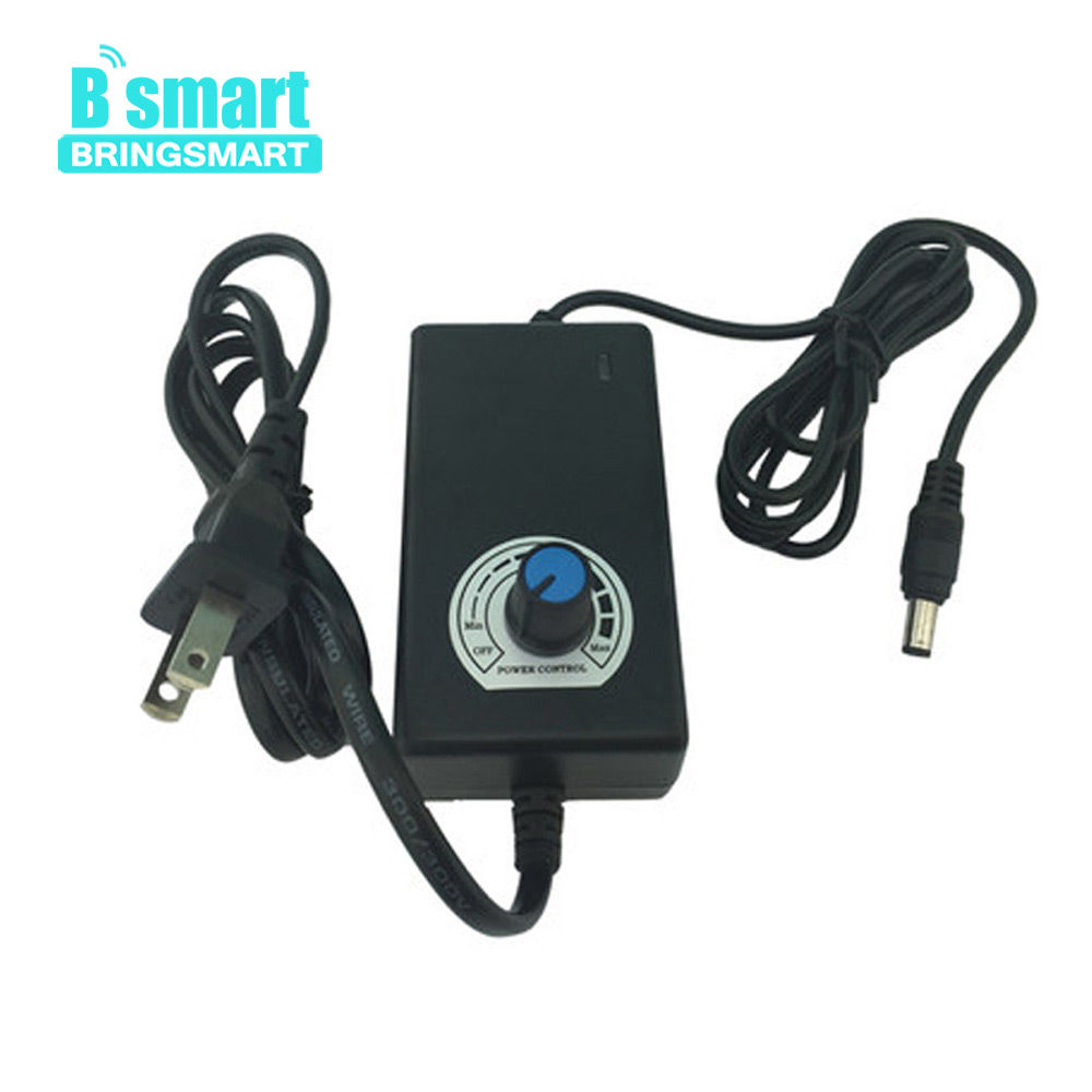 Bringsmart Motor Power AC to DC 2A 12v Motor Speed Regulator with Adjustable Speed Switch Power Adapter Supply for Gear Motor