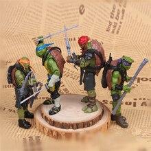 Аниме фигурки мультфильм Рисунок Модель ПВХ игрушки куклы для детей Turtles shell Рождественский подарок коллекция украшения 12 см