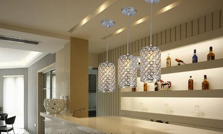 Cristallo moderna lampada a sospensione bar luce dinnerroom