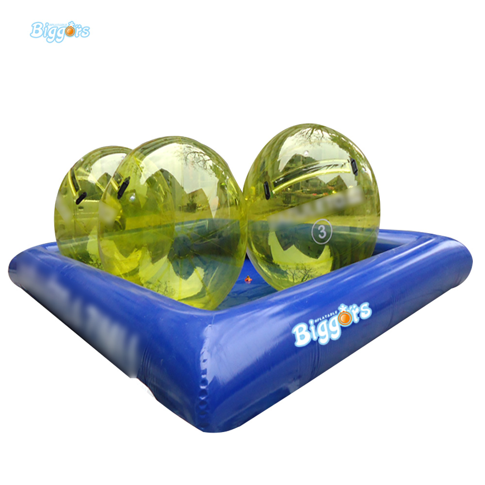 Inflatable Biggors Inflatable Water Swimming Pool With Bubble Ball For Playing free shipping 10x6m inflatable pool big inflatable swimming pool for water walking ball