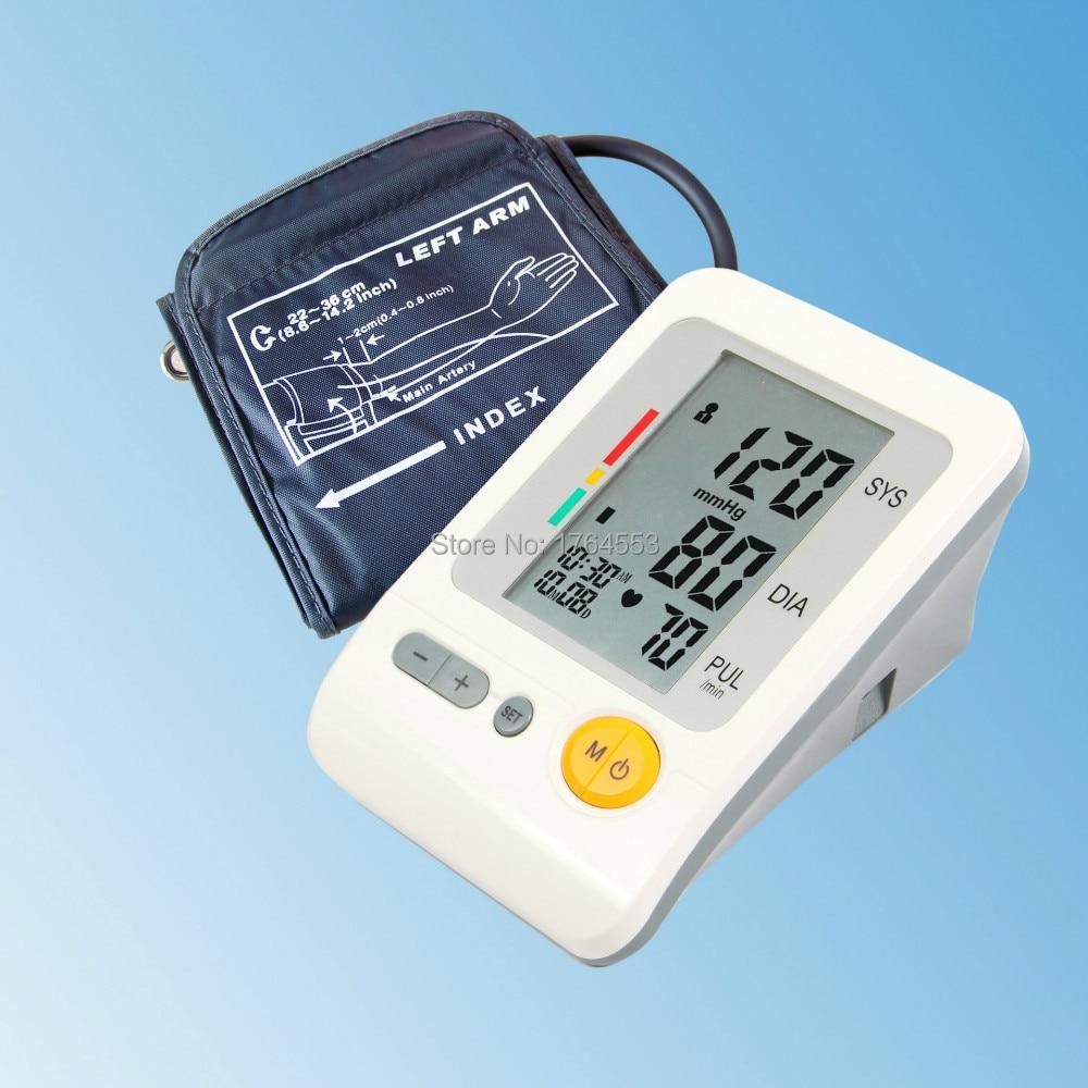 Преносим пълен автоматичен цифров монитор за кръвно налягане на сърдечния ритъм с LCD дисплей и 4X30 спомени домашна грижа