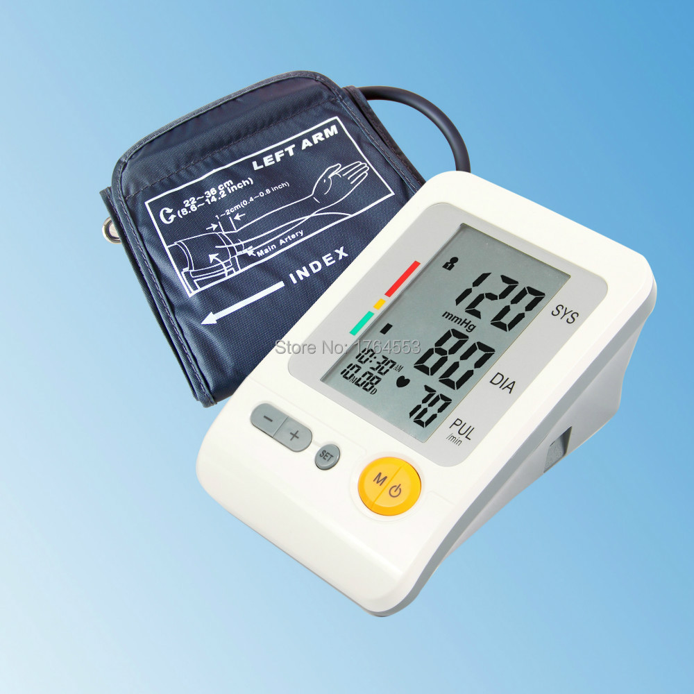 Portable Home Care Full Automatic Digital Arm Blood Pressure Monitor Heart Beat Meter With LCD Display And 4X30 Memories brandfully automatic intelligent blood pressure monitor digital arm sphymomanometer electronic blood pressure meter for home use