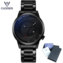 2018 CADISEN Luxury Brand Men Sports Watches Waterproof Quartz Watch Men Military Wristwatch Clock Male Relogio Masculino 9056 luxury brand cadisen men watch quartz watches big design dual time zone casual military waterproof wristwatch relogio masculino