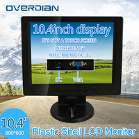 10.4 inch/10.4 VGA Connector Monitor 800*600 Song Machine Cash Register Square Screen Lcd Non touch ScreenPlastic ShellMonitor