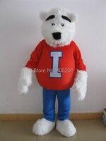 Пенопласт высокое качество костюм жира белый медведь талисман костюмы спортивные костюмы