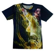 Summer Style New 2016 Fashion men's 3d t shirt print King of Rock Roll Michael Jackson t shirt women/men singer star tshirt