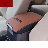 Fiber Leather Car Armrest Cover For Toyota Land Cruiser Prado 2010 2011 2012 2013 2014 2015