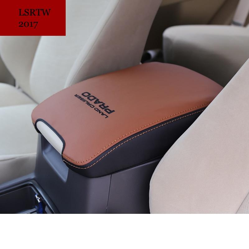fiber leather car armrest cover for toyota land cruiser prado 2010 2011 2012 2013 2014 2015 2016 2017 2017 2018
