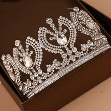 Vintage Luxury tiara Bridal Hair Accessories  Wedding Quinceanera tiaras Crowns Pageant crystal Rhinestone Crown недорого